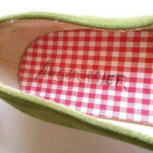 Lavorazione Artigiana Shoes - Lavorazione Artigiana Green Suede Leather Flats